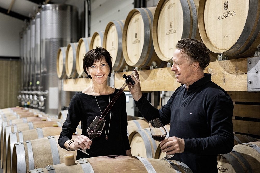 Karel and Tine Henckens own the most northerly Pinot vineyards in Europe
