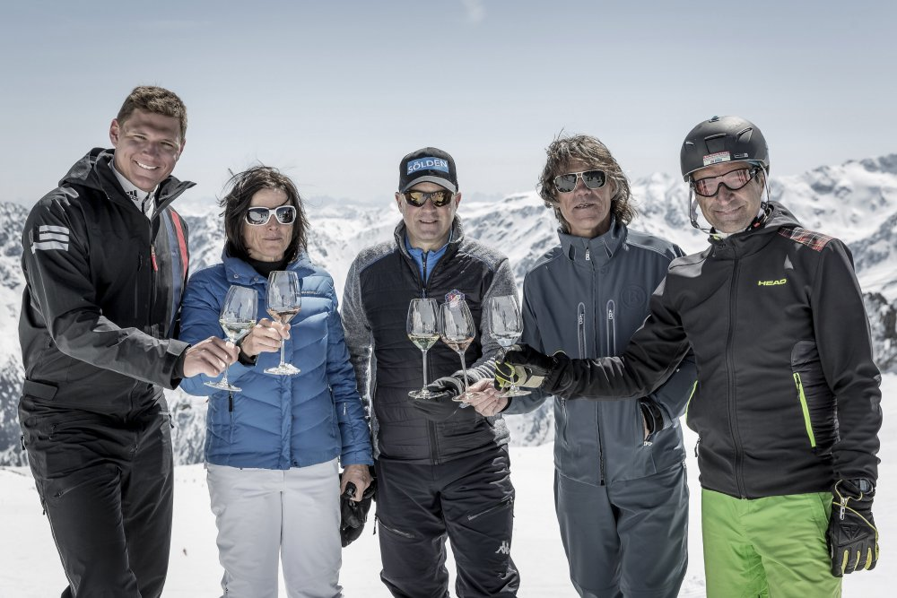 Celebrity skiguides at Wein am Berg 2019