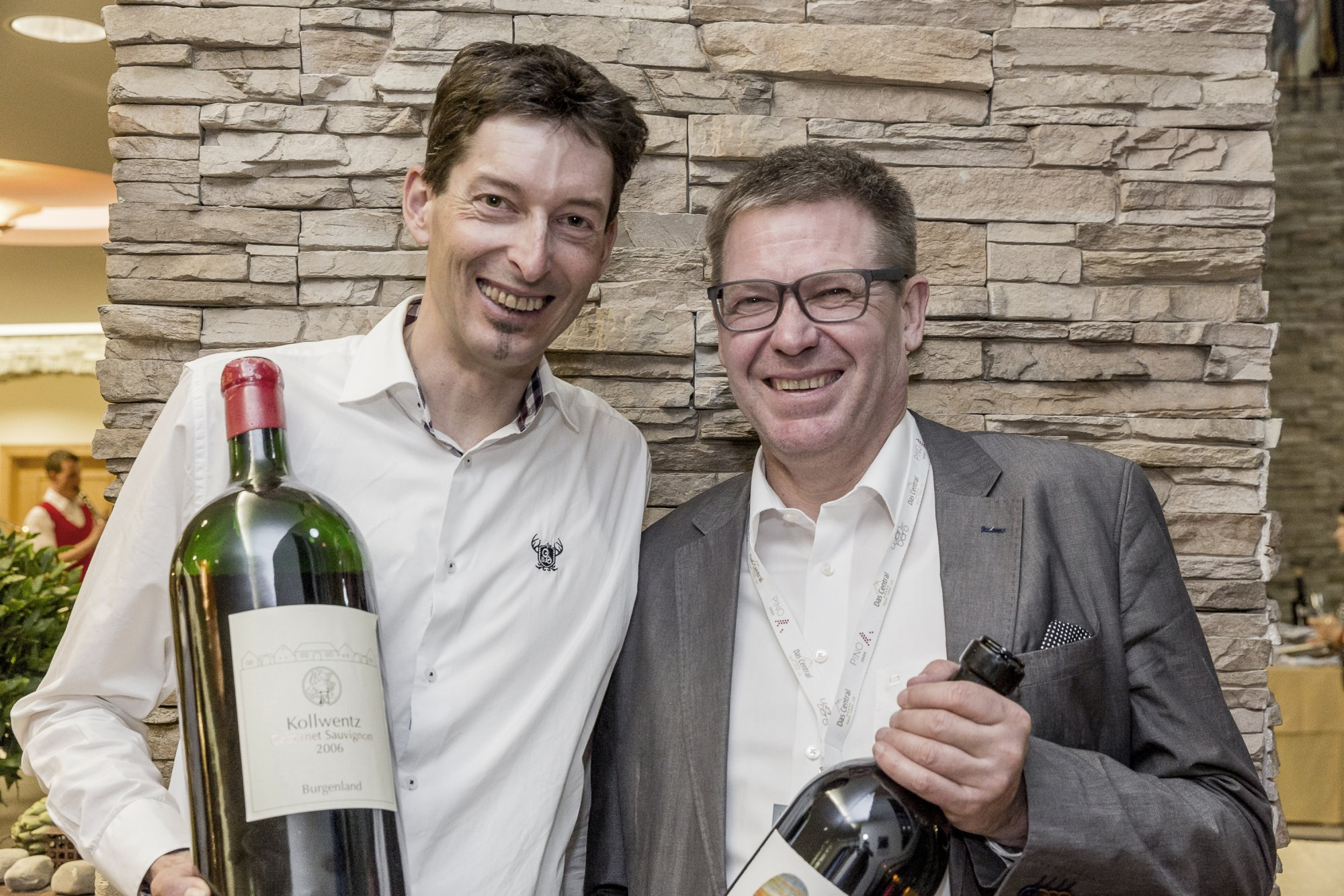 Andi Kollwentz & Wolfgang Reisner have fun at Wein am Berg
